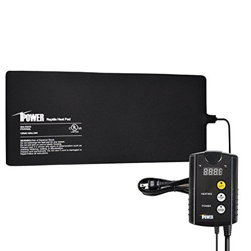 iPower 8''x18'' Under Tank heat pad and Digital Thermostat Combo Set for Reptiles by iPower