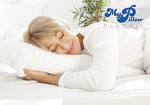 My pillow classic series medium firmness bed pillow for Standard bed pillow size