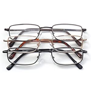 Optx 20/20 Alpha Alloy Readers, Metal Readers +300, (Pack of 3)