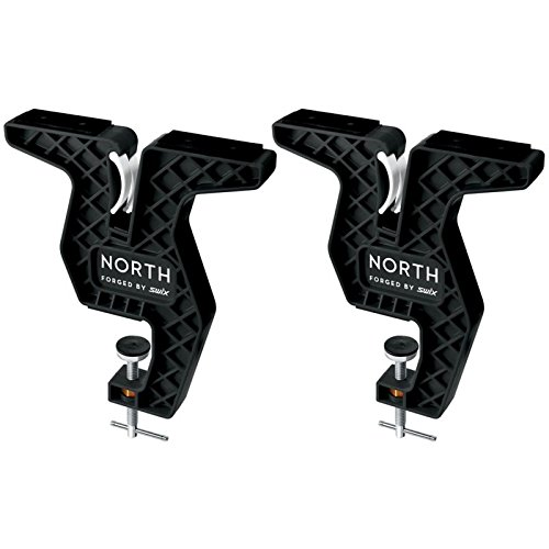 Swix T Bar Freeride Vise Ski & Snowboard Wide North Collection by Universal (2 Piece), Black