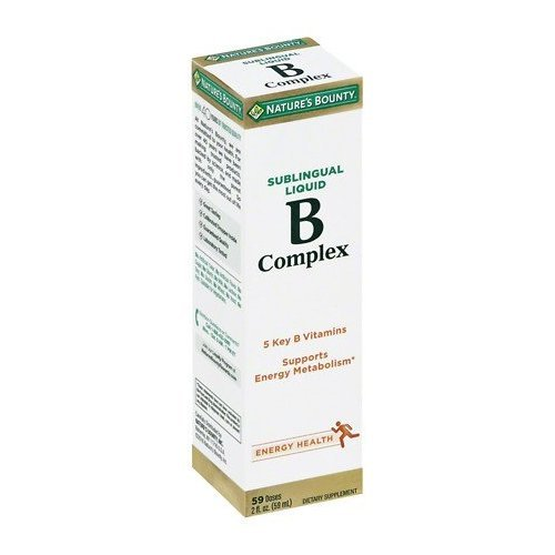 Nature's Bounty B Complex with B12 Sublingual Liquid Fast Acting Dietary Supplement