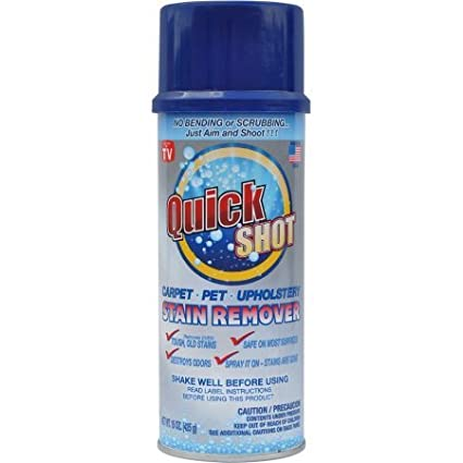 Instagone's Quick Shot Carpet, Pet & Upholstery Stain Remover. 1, 15 oz. aerosol Stream-Shot can As Seen on TV