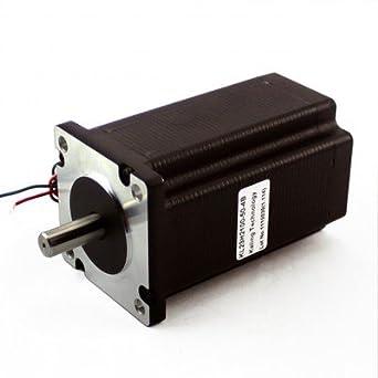 3pcs nema 23 dual shaft stepper motors 382 oz in rated for Double shaft stepper motor