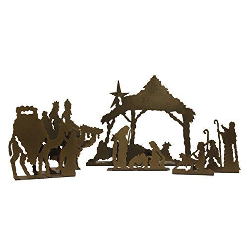 Original Rustic Tabletop Nativity Bronze product image