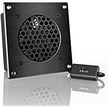 "AC Infinity AIRPLATE S1, Quiet Cooling Fan System 4"" with Speed Control, for Home Theater AV Cabinets"