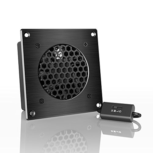 Ac Infinity Airplate S1  Quiet Cooling Fan System 4  With Speed Control  For Home Theater Av Cabinets