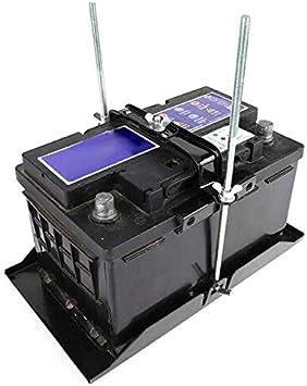 PoeHXtyy Support de Batterie de Stockage de Voiture Universel Hold Down Tray Stabilisateur r/églable Support Barre transversale