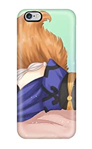 Fashion Tpu Case For Iphone 6 Plus- Fate Extra Animal Ears Bow Breasts Cleavage Fate Extra Fate Stay Night Fate Zero Foxgirl Japanese Pinktail Tamiczan Thighhighs Defender Case Cover