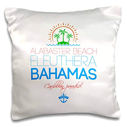 Alabaster Splash - 3dRose Alexis Design - Caribbean Beaches Bahamas - Alabaster Beach, Eleuthera, Bahamas. Summer travel gift, souvenir - 16x16 inch Pillow Case (pc_315856_1)