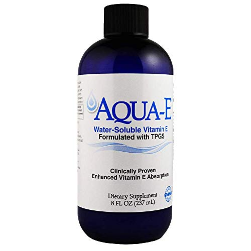 Aqua-E Water-Soluble Vitamin E; Tocopherols & Tocotrienols; 8 fl oz (237 ml)