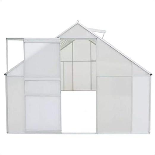 Wateday Invernadero de policarbonato y Aluminio 490x250x195 cm: Amazon.es: Jardín