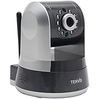 TENVIS TZ100 HD Wireless IP/Network Security Camera, Remote Live View, Capture Picture and Video Clip, Pan & Tilt, Plug&Play, with Two-Way Audio and Night Vision, Motion Detection with Alert (Silver)