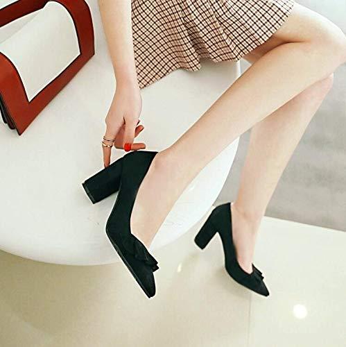 Femme Chaussures Taille De Mariage 8 Grande en Été LIANGHUA Chaussures Dame Printemps Hauts Marque Daim Fête 5 Talons Pompes Chaussures De Sexy Doux Femme Cm Volants De Femmes pwpZx4qIU