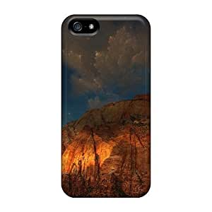 E-Lineage Scratch-free Phone Case For Sam Sung Note 4 Cover - Retail Packaging - Mountains Stars