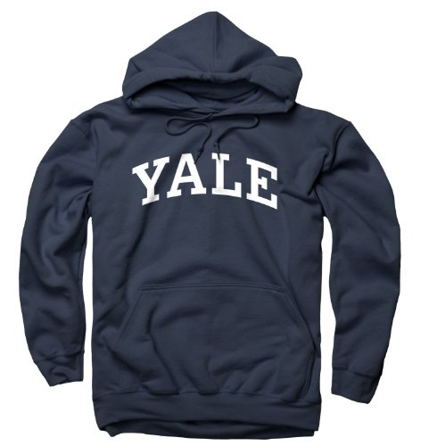 Arched Sweatshirt - Yale University Bulldogs Hoodie Hooded Sweatshirt Arched Logo Navy - XXL