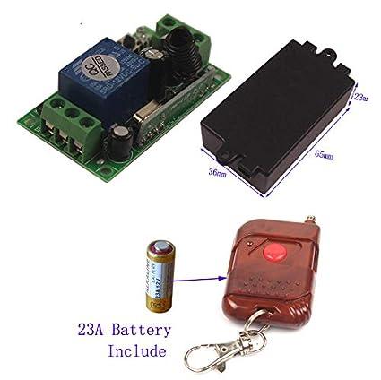 433Mhz 12V 1CH Wireless RF Remote Relay Switch Long Range DC