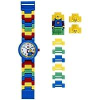 LEGO Classic Kids - Mini figura reloj con enlace modulable   Negro/Amarillo   plástico   diámetro de la carcasa de 28mm   de cuarzo analógico   para niño o niña   oficial.