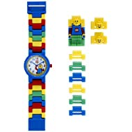 LEGO Classic 8020189 Kids Minifigure Link Buildable Watch | black/yellow | plastic | 25mm case...