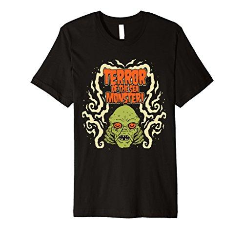 Mens Psychobilly Horror Punk Rock T-Shirt (HR) Terror Monster Large - Terrors Black Monster