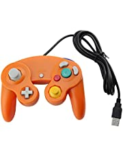 Orange USB Wired Controller for GameCube, PC and Mac by Mario Retro