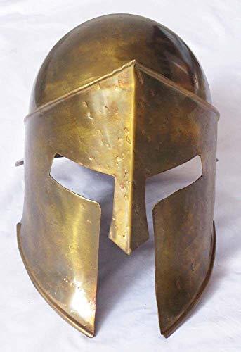 UNIQUEWONDERITEMS PURVA Wearable Medieval Armour Spartan 300 Helmet Movie Replica Costume Prop Replica -