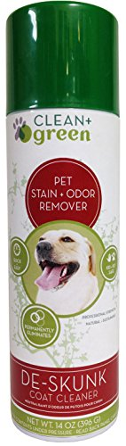 Clean+Green Professional Strength DeSkunk Coat Relief, Odor Remover and Deodorizer for Dogs, 14 Ounce