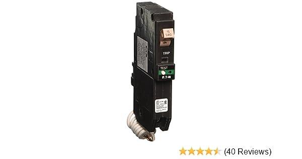 Eaton CH 20 Amp 1-Pole Dual Function Arc Fault//Ground Fault Circuit Breaker