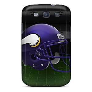 Shock Absorbent Hard Phone Cases For Samsung Galaxy S3 With Customized Lifelike Minnesota Vikings Series JoanneOickle