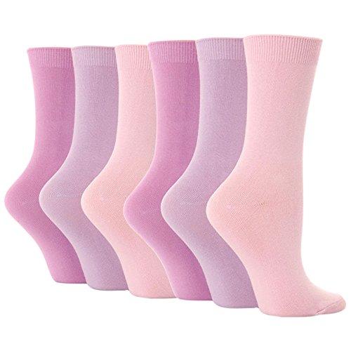 6 Pairs Ladies Womens Casual Cotton Rich Solid Plain Color Dress Socks PL30
