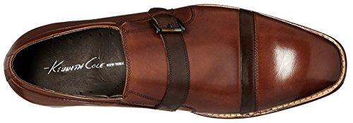 Kenneth Cole New York Mens Inter Est Me Monk Strap Cognac
