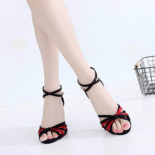 7 Femme De Black Salle Minitoo Bal Heel red 5cm t4Yvwqw