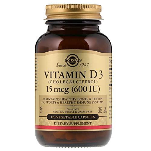 Solgar - Vitamin D3 (Cholecalciferol) 600 IU, 120 Vegetable Capsules
