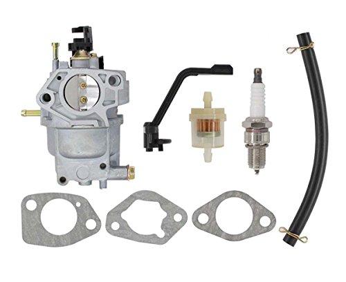 MOTOKU Carburetor Spark Plug Fuel Filter Carb Kit for Generac GP6500 GP6500E GP7500E GP5500 8125W Generator Watts Replaces 0J58620157 Also Fits Jingke Huayi Kinzo Ruixing Xieli