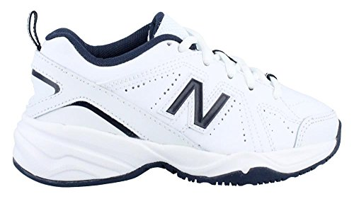 New Balance Kids Unisex KX624 (Little Kid/Big Kid) White/Navy Sneaker 1 Little Kid XW White/navy