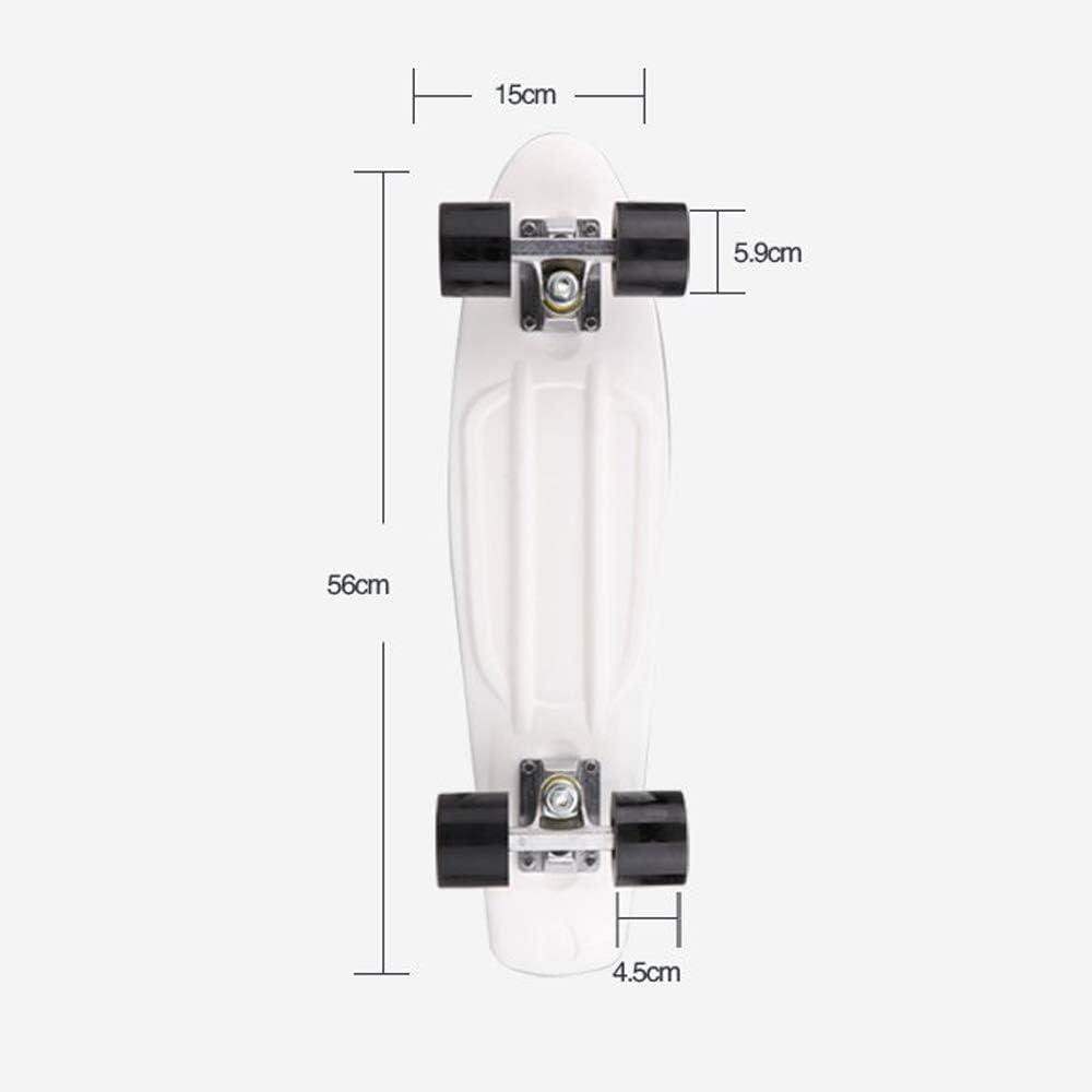 JMFHCD Skateboard Completo per Mini Skateboard da 22 Pollici Plastica Longboard retr/ò per Adulti Principianti Ragazze Ragazzi
