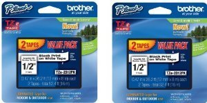 Brother 4 Value Pack P-Touch Tape (TZe2314PK) ()