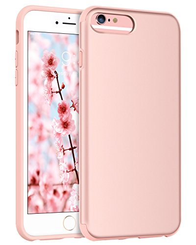 BENTOBEN Case for iPhone 6 Plus/iPhone 6S Plus (5.5 inch), Slim Fit Protective Cell Phone Case, Dual Layer Hybrid Hard PC Soft TPU Rugged Shockproof Case Cover for iPhone 6 Plus/6S Plus, Rose Gold