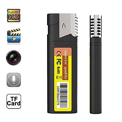 HD 1080 P Cámara Espía Oculta Real Encendedor Electrónico DVR Cam U Disco Grabador de Video