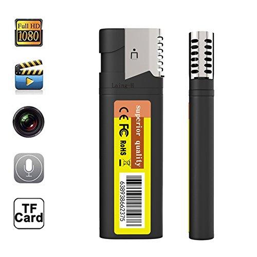 HD 1080 P C/ámara Esp/ía Oculta Real Encendedor Electr/ónico DVR Cam U Disco Grabador de Video Port/átil Mini DV sin Agujero de la Lente @ Laing-H