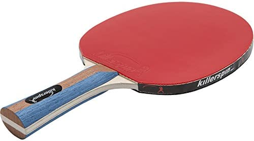 Killerspin JET Set 2 Table Tennis Paddles and Ping Pong Balls, 2 Ping Pong Paddles and 3 Ping Pong Balls, Great for Beginners and Kids, Table Tennis Racket with Wood Blade, Jet Basic Rubber Grips Ping Pong Balls Red Black