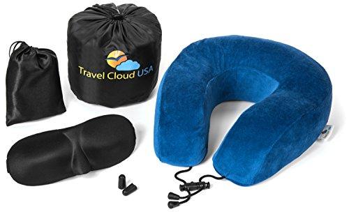 Premium Memory Foam Travel Pillow with Carry Bag