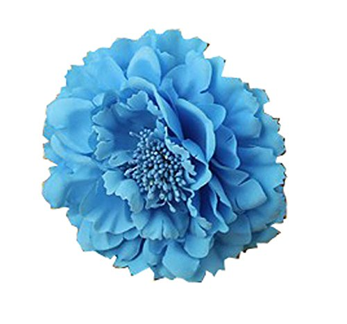 Kewl Fashion Women's Bohemia Peony Flowers Hairpin Hair Clip Flower Brooch (Blue #)