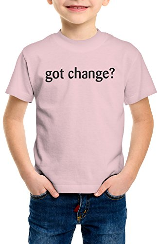 shirtloco Boys Got Change Youth T-Shirt, Light Pink Extra (Change Kids Light T-shirt)