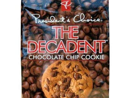 2-Pack -- President's Choice (PC) THE DECADENT Chocolate Chip Cookie