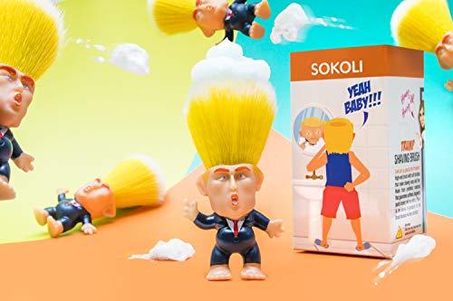 SOKOLI - Original Donald Trump Shaving Brush Doll – Gag Gifts for Men – Synthetic Bristles – Shave with President – Great Huge Gift
