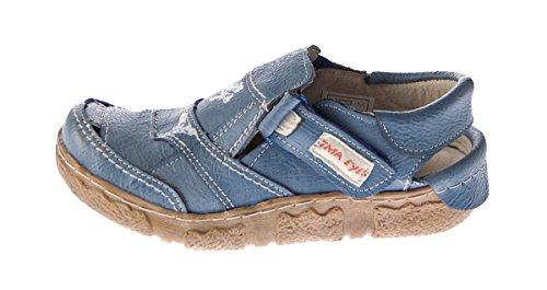 Lisa TMA Azul de mujer de para azul vestir Piel Sandalias XaXrU