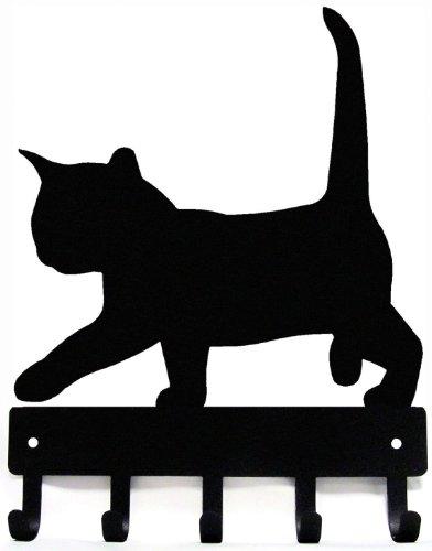 The Metal Peddler Cat #2 Kitten Key Rack Hanger - Small 6 inch Wide