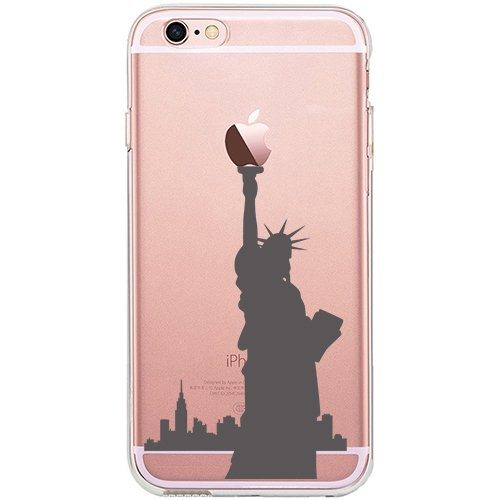 iPhone 6S Plus Case, SwiftBox Cute Cartoon Case for iPhone 6 Plus and iPhone 6S Plus (Statue of Liberty)