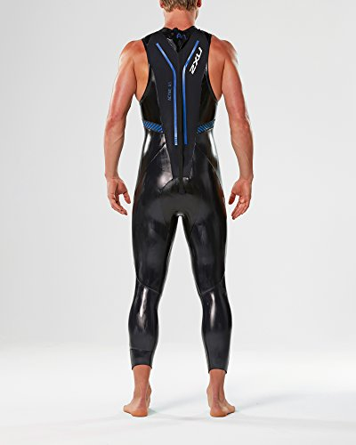 2XU Men's A:1 Active Sleeveless Wetsuit, Small/Medium, Black/Cobalt Blue by 2XU (Image #4)