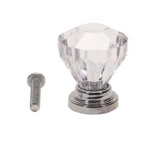 TOOGOO(R) 10x Clear Acrylic Drawer Pull Knob Cabinet Chest Bin Handle / Brilliant Color Sparkles Like Diamonds from the Diamond Cuts, Used for Cabinet, Drawer, Chest, Bin, Dresser, Cupboard, (Clear Diamond Cut Acrylic)